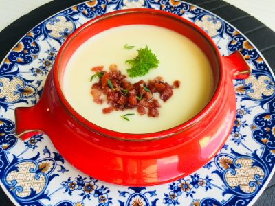Supa crema de telina cu sunca